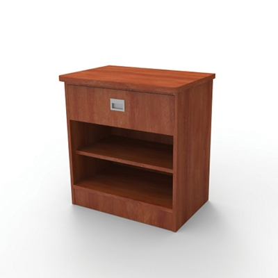 "Behavioral Health Single Drawer Bedside Cabinet - 29""H"