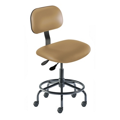 Armless Vinyl Task Chair with Footrest