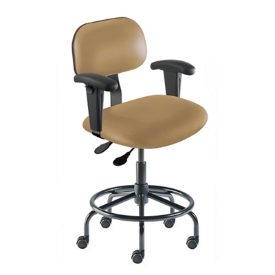 Vinyl Task Chair with Arms and Footrest