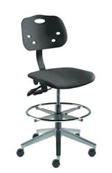 Polypropylene Task Stool with Footring