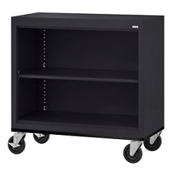 """Mobile Two Shelf Bookcase - 36""""H"""