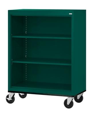 """Mobile Three Shelf Bookcase - 48""""H"""