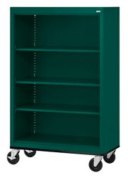 "Mobile Four Shelf Bookcase - 58""H"