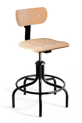 """Height Adjustable Maple Plywood Chair with Footrest- 22""""-27"""" H"""