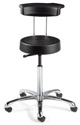 """Armless Height Adjustable Stool with Backrest -20""""-27.75""""H"""