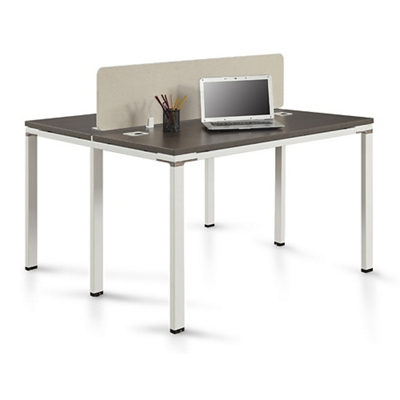 "Element Two Person Workstation with Desktop Divider - 59""W"