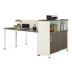 "Element 48""W Two Person Workstation with Storage"