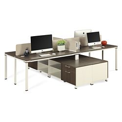 "Element Four Person 59""W Workstation with Storage"