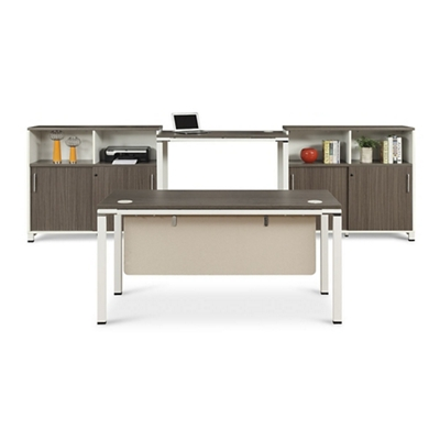 Element Executive Desk Set With Two Storage Cabinets