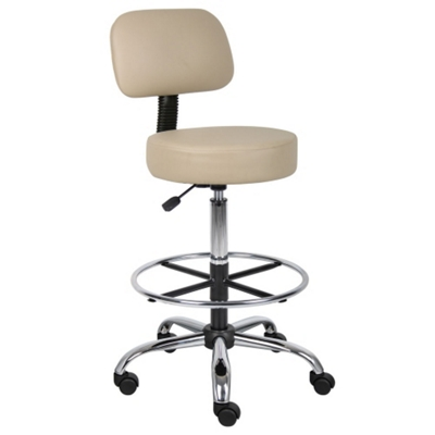 Armless Vinyl Medical  Stool with Foot Ring
