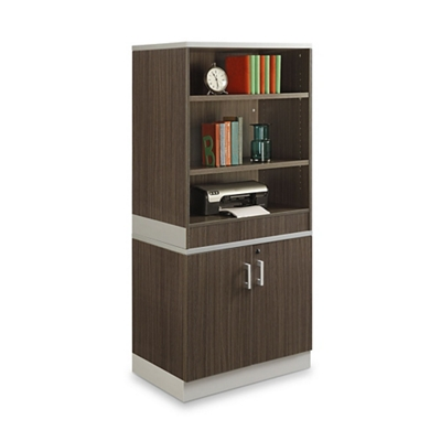 "Esquire 68.5""H Bookcase and Storage Cabinet Set"