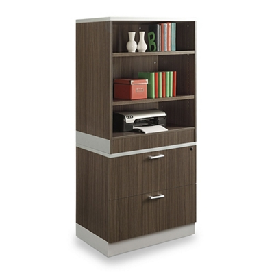 "Esquire 68.5""H Bookcase and Lateral File Set"