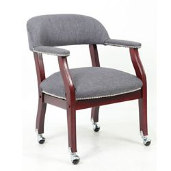 Fabric Captain's Chair with Casters