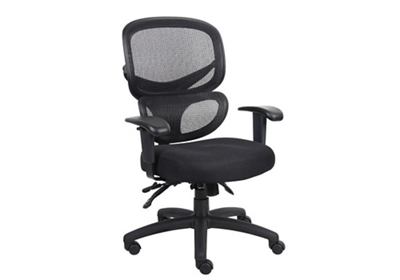 Mesh and Fabric High Back Ergonomic Chair