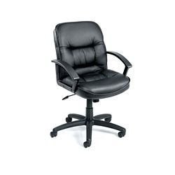 Mid-Back Computer Chair in Bonded Leather