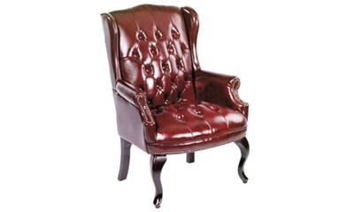 Traditional Wing-Back Guest Chair