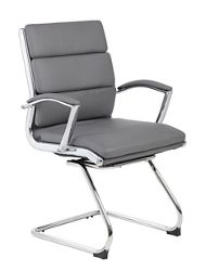 Crofton Faux Leather Guest Chair