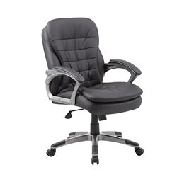 Belton Faux Leather Mid Back Pillow Top Computer Chair