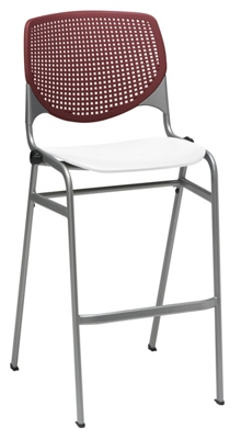Perforated Back Polypropylene Stool