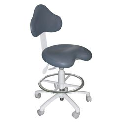 Dental Operator Stool with HybriGel Seat and Foot Ring