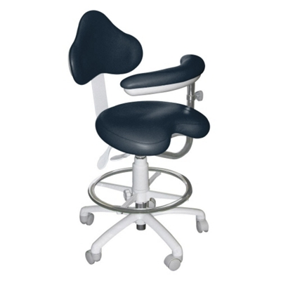 Dental Assistant Stool with HybriGel Seat and Left Armed Support