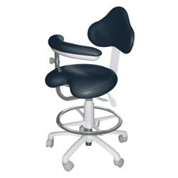 Dental Assistant Stool with HybriGel Seat and Right Armed Support