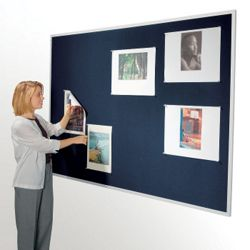 "48""W x 34""H Fabric Tack Board"