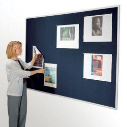"""96""""W x 48""""H Fabric Tack Board"""
