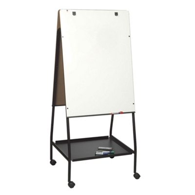 Mobile Double Sided Adjustable Height Melamine Whiteboard Easel