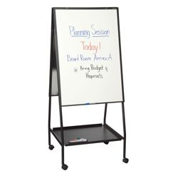 Mobile Double Sided Adjustable Height Porcelain Whiteboard Easel