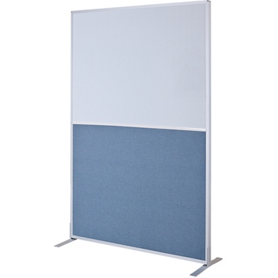 4ft W x 6ft H Modular Panel with Fabric and Whiteboard Panels
