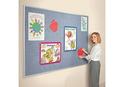 Vinyl Bulletin Board with Aluminum Frame 5'Wx4'H