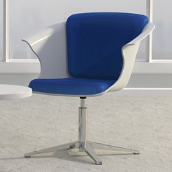 Fabric Bucket Chair with Swivel Return