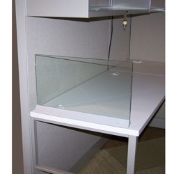 "Desktop Glass Screen - 42"" x 13"""