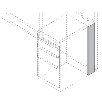 """Right Pedestal Panel Spacer - 4"""""""