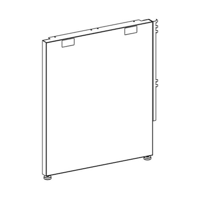 "Right- or Left-Handed End Panel Support - 24""D"
