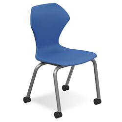 "Polypropylene 18"" H Stack Chair with Casters"