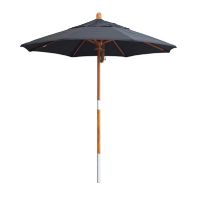 7.5' Umbrella with Wood Pole and Pulley Lift