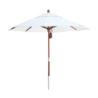 9' Umbrella with Wood Pole and Pulley Lift