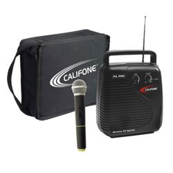 Portable Public Addess System with Wireless Mic and Carrying Case