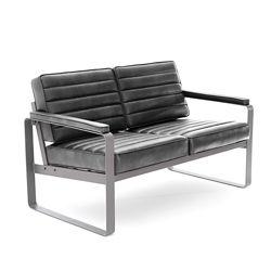 Rivet Two-Seat Lounge Loveseat