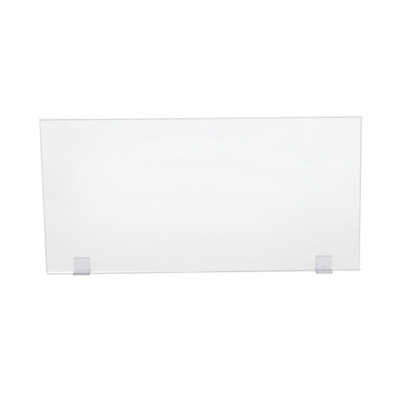 "Universal Clear Acrylic Panel with Bracket Kit - 48""W x 24""H"