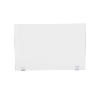"Universal Clear Acrylic Panel with Bracket Kit - 48""W x 32""H"