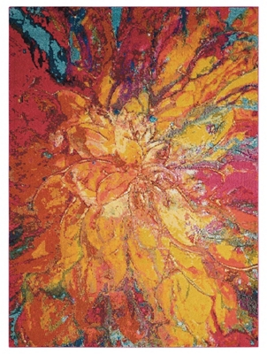 "Floral Abstract 5'3"" x 7'3"""