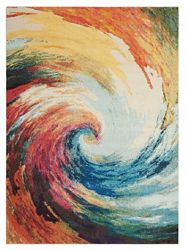 "Colorful Swirl Rug 7'10""x10'6"""