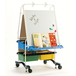 "White Board Center with Storage - 31.5""W x 56.5""H"