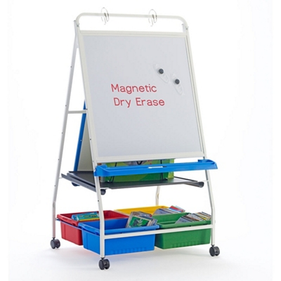 """White Board Reading and Writing Center - 33.5""""W x 56.5""""H"""
