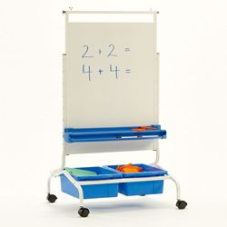 "Deluxe White Board Chart Stand - 28""W x 69.5""H"
