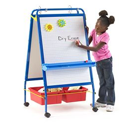 "Two-Sided Early Learning Station - 26.5""W x 48""H"