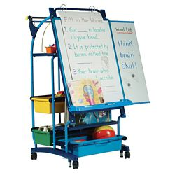 "Teaching Easel with Seven Tubs - 30""W x 64.5""H"
